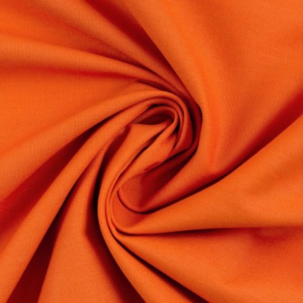 Baumwollstoff Uni Orange 423
