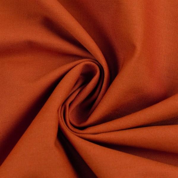 Baumwollstoff Uni Terrakotta 712