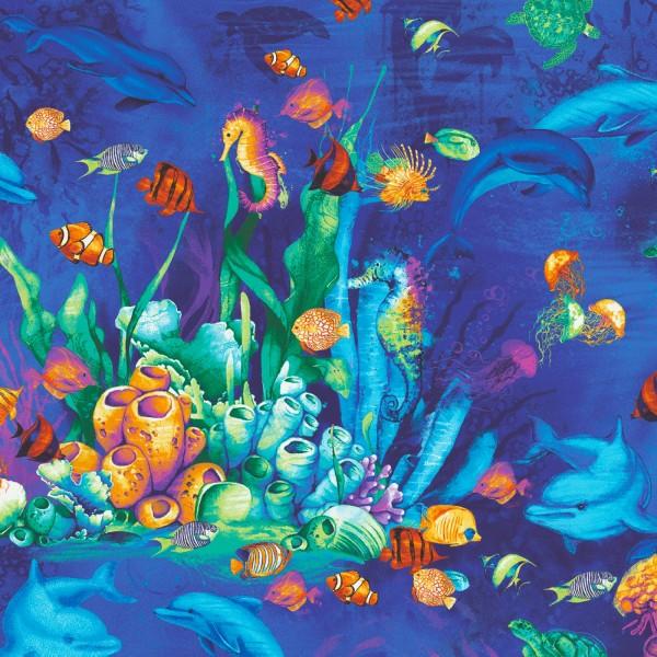 Meerestiere Stoff Ocean Magic Unterwasserwelt