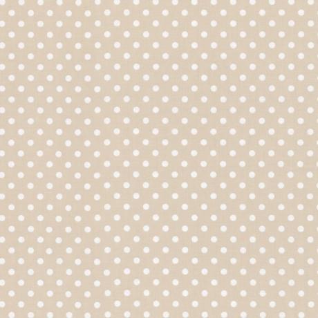 Baumwollstoff Dots 7mm Beige Weiß