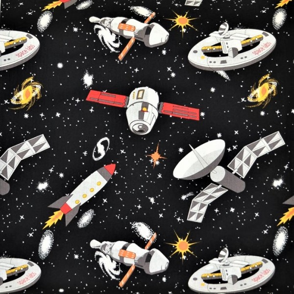 Raumschiff Stoff Spacewalk Spaceships Glow in the Dark