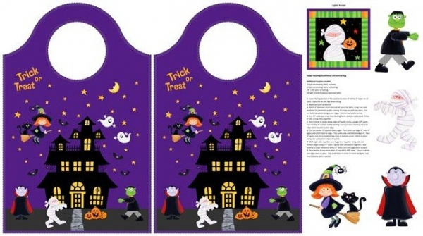 Halloween Taschen Panel Happy Haunting