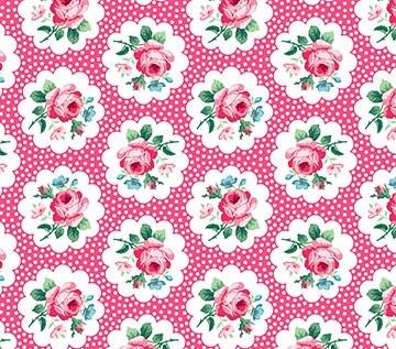 Julia's Garden Floral Medallions Pink