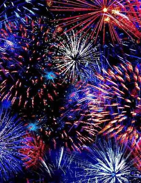 Feuerwerk Stoff Patriotic Fireworks