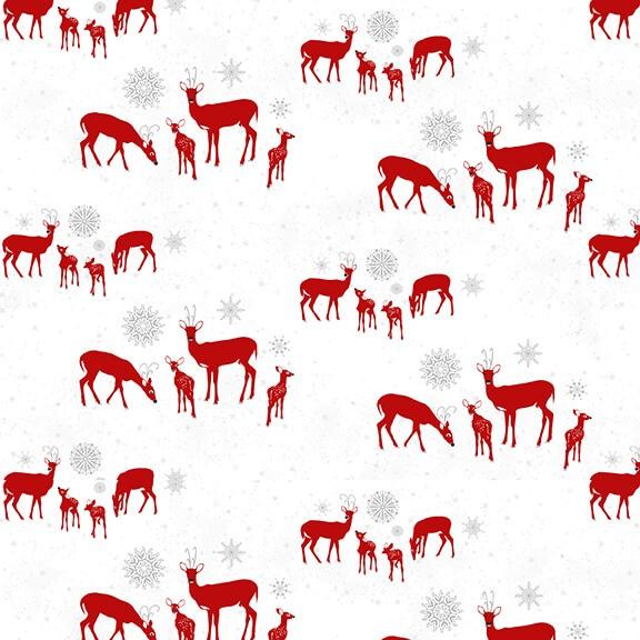 Weihnachtsstoff Rehe Holiday Lane Deer