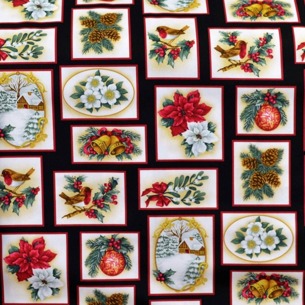 Patchwork Weihnachtsstoff Holiday Trimmings