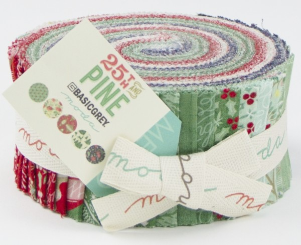"""Moda Jelly Roll """"25th and Pine"""" Patchworkstoffe Weihnachten"""