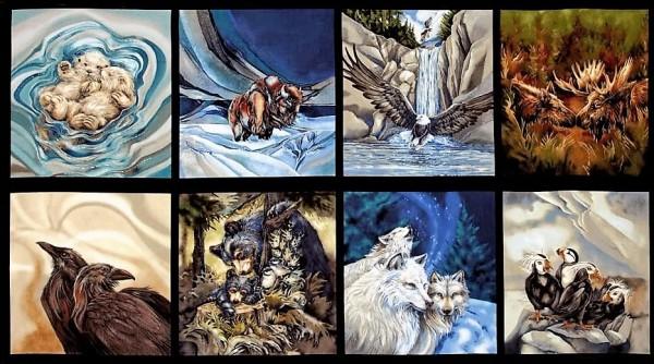 North American Wildlife Animals Panel Tiere