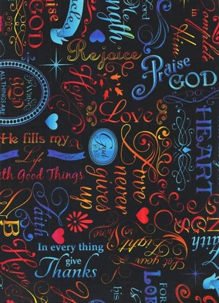 Stoff Words Of Faith Meterware Timeless Treasures Patchworkstoff