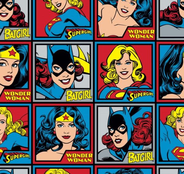 Girl Power Motive Stoff Wonder Woman