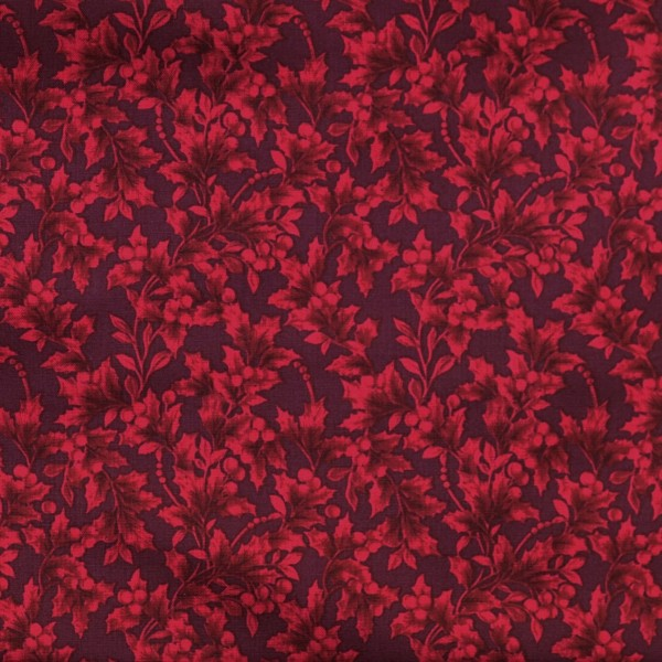 Ilex Stoff Rot Holiday Trimmings Holly Weihnachtsstoff