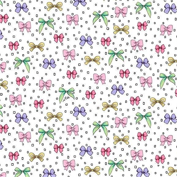 Schleifen Stoff Amour de Fleur Bows Weiß
