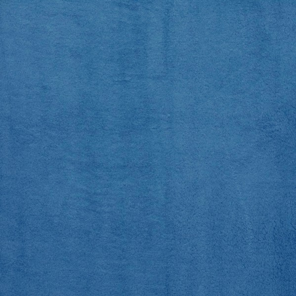 Microfaserfleece Chantal Blau Plüsch Stoff