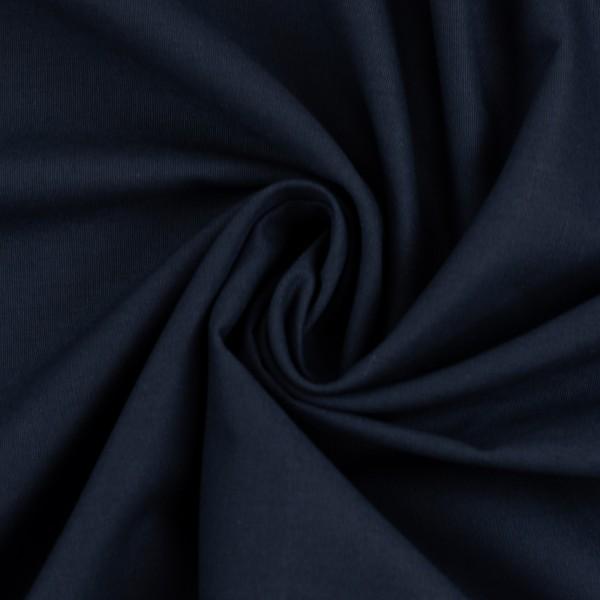 Baumwollstoff Uni Navy Blau 596