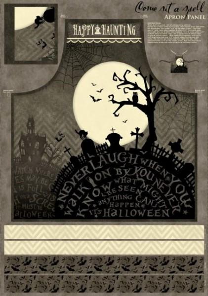 Halloween Schürze zum selber nähen Come sit a spell
