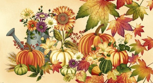 Autumn Album Panel Patchworkstoff Herbst
