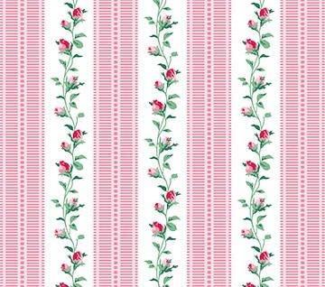 Julia's Garden Vine Stripe Pink