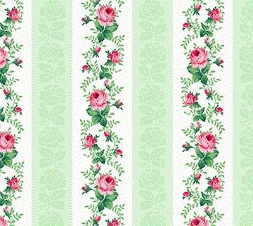 Julia's Garden Floral Stripe Grün