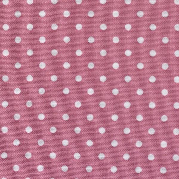 Baumwollstoff Dots 7mm Altrosa Weiß