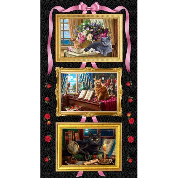 Madame Victoria Elegant Cats Panel