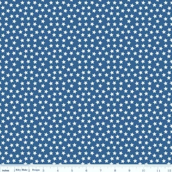 Lucky Stars Navy Sterne Dunkelblau