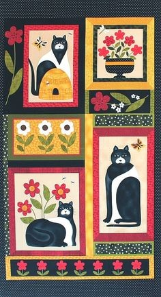 Katzen Stoff Cat For All Seasons Panel