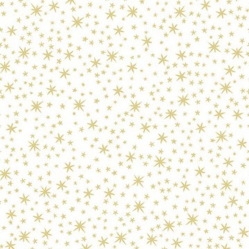 Sterne Stoff Weiß Gold Weihnachten Holiday Metals Stars White