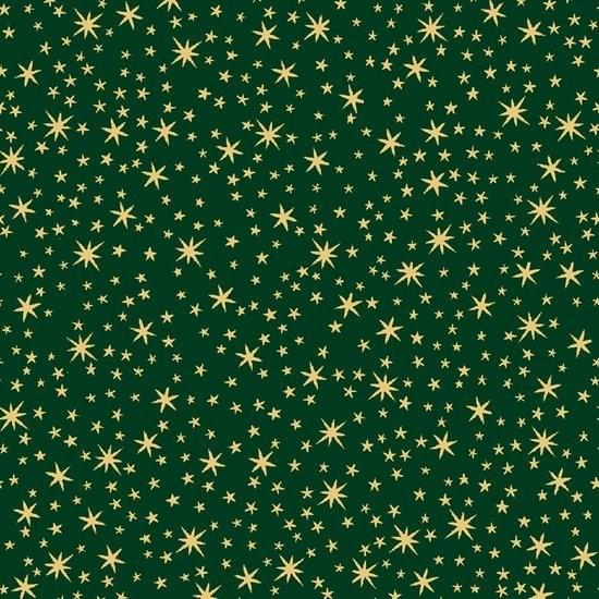Sterne Stoff Grün Gold Weihnachten Holiday Metals Stars Green