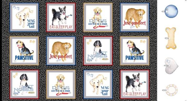 Hunde Stoff Panel Think Pawsitiv Dogs