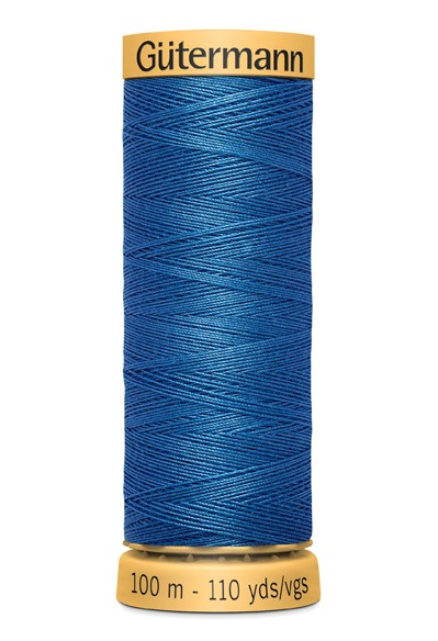 5534 Blau Nähgarn 100m Baumwolle