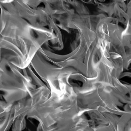 Feuer Stoff Schwarz Open Air Smoke